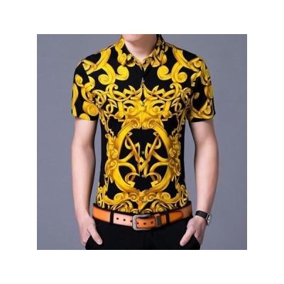 夏服 新型 ゆったり Tシャツ 男性  CZJB052