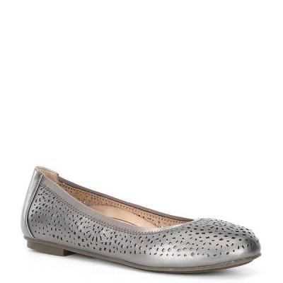 バイオニック レディース サンダル シューズ Robyn Perforated Leather Ballet Flats Pewter