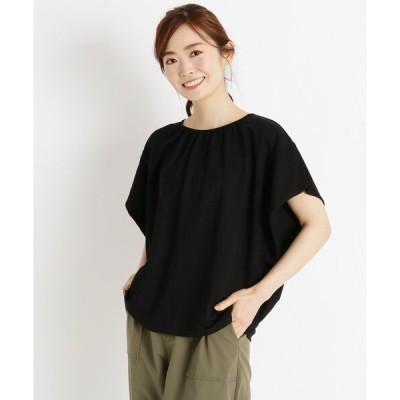 tシャツ Tシャツ 【S-LL】クールギャザープルオーバー