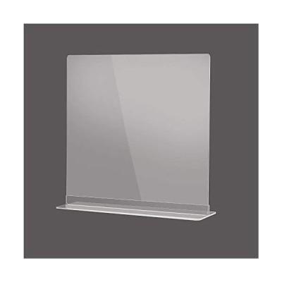 飛沫感染予防 透明アクリルパーテーション 多種サイズ 組立簡単 角丸加工 デスク用スクリーン 間仕切り カウンター 飲食店など最適サイズ (