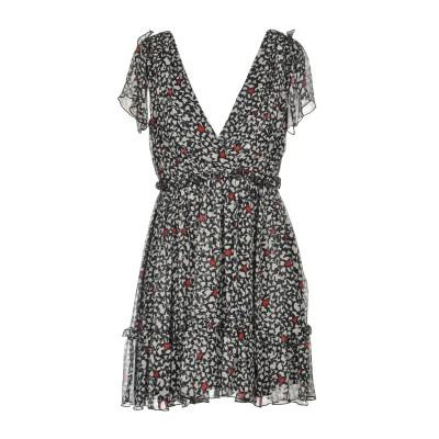 エムエスジーエム MSGM ミニワンピース&ドレス ブラック 44 100% シルク ミニワンピース&ドレス