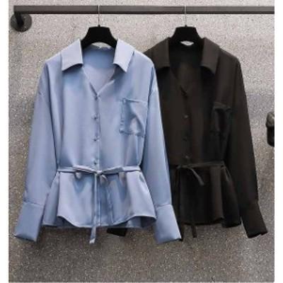 予約商品 大きいサイズ レディース 春新作 長袖 チュニック シャツ  ゆったり 体型カバー オーバーサイズ 大人カジュアル/210121