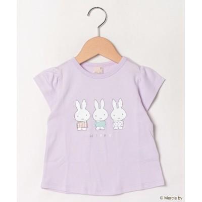 【プティマイン】  お洋服Tシャツ キッズ ラベンダー 80 petit main