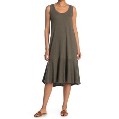 カスロン レディース ワンピース トップス Drop Waist Midi Dress OLIVE SARMA