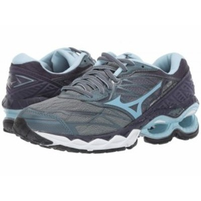 Mizuno ミズノ レディース 女性用 シューズ 靴 スニーカー 運動靴 Wave Creation 20 Graphite/Cool Blue【送料無料】