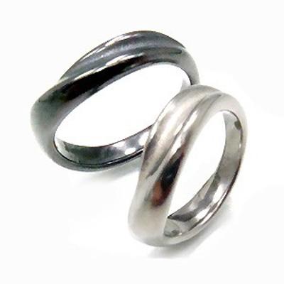 純チタンペアリング U32U32Gpair アレルギーフリー リング 指輪 ペアリング 結婚指輪 マリッジリング グレー IPグレー gray チタン 純チ