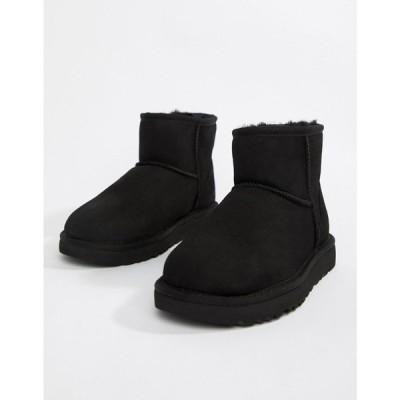 アグ UGG レディース ブーツ シューズ・靴 Classic Mini II Black Boots ブラック