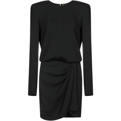 SAINT LAURENT ミニワンピース&ドレス ブラック 36 53% アセテート 47% レーヨン ミニワンピース&ドレス