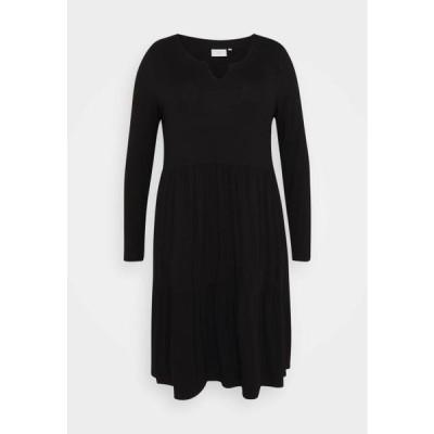レディース ファッション PATRI DRESS - Jersey dress - black deep
