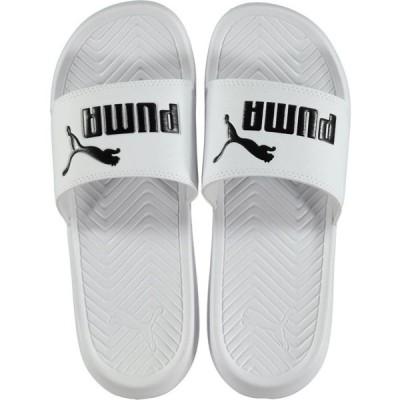 プーマ Puma メンズ サンダル シューズ・靴 Popcat Sliders WHITE/BLACK