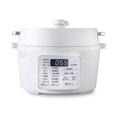 アイリスオーヤマ 電気圧力鍋 4.0L 2WAYタイプ グリル鍋 業界最高出力1000W 6種類自動メニュー レシピブック付き ホワイト 2020年モ