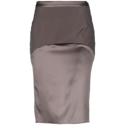 ブルネロ クチネリ BRUNELLO CUCINELLI 7分丈スカート ダークブラウン 42 シルク 96% / ポリウレタン 4% 7分丈スカート