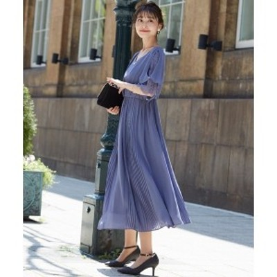 ドリードール(Dorry Doll)/スラッシュレース袖プリーツ切り替えスカートワンピースドレス