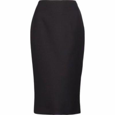 フェンディ Fendi レディース ひざ丈スカート タイトスカート スカート Wool and silk-blend pencil skirt Black