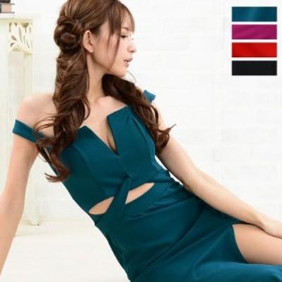 ドレス レディース ロングドレス 送料無料 セクシースリットオフショルダーロングドレス
