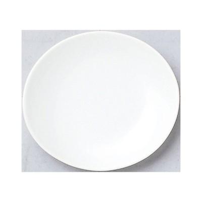 100個〜 オリジナル陶器 名入れ 13cm皿_オーバル ホワイト (個箱は別途お見積)