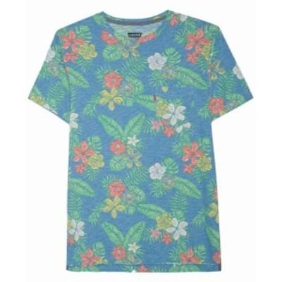 Levis リーバイス ファッション トップス Levis Mens Tee Shirt True Blue Green Size Medium M Floral Print