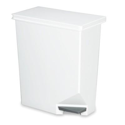 カウンター下や棚下で縦・横どちらでも置けるペダル式スリムゴミ箱<35L>