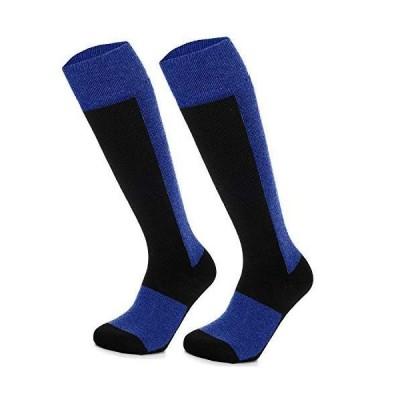 KleeTrend 男性スキー靴下 スキー用の高性能で暖かいソフトストッキング男女兼用のスノーボードハイキング (1 *青い)