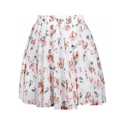 レディース フレア ミニスカート 裏地付き 膝上 花柄スカート 着痩せ 爽やか カラフル 可愛い ゆったり 伸縮性 ふんわり 花びら 個性 カジュアル