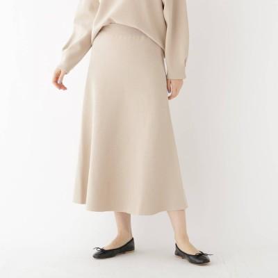 ドレステリア DRESSTERIOR 【セットアップ可】ミラノリブニットロングスカート (ベージュ)