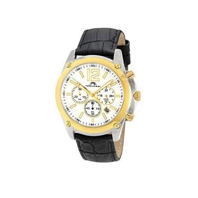 Porsamo Bleu Luxury Nathan Genuine Leather Silver Tone, Gold Tone & Black Men's Watch 642BNAL 並行輸入品