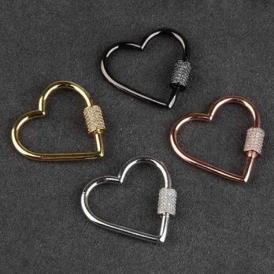 Chanfar ジュエリー アクセサリー シンプル な デザイン 装飾4色 スパイラル ボルト ネジ クラスプ 用 ジュエリー メイキング