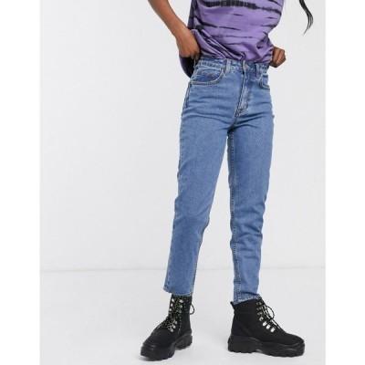 オブジェクト Object レディース ジーンズ・デニム ボトムス・パンツ mom jeans in mid blue ミディアムブルーデニム