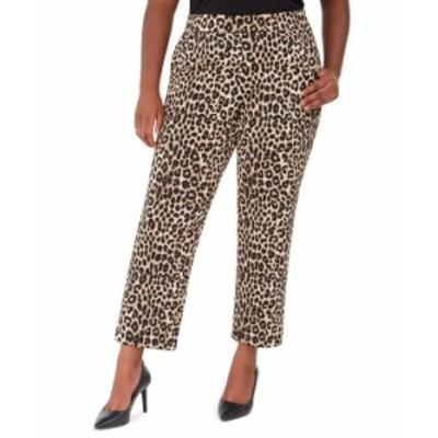 マイケルコース レディース カジュアルパンツ ボトムス Plus Size Animal-Print Wide-Leg Pants Dark Camel