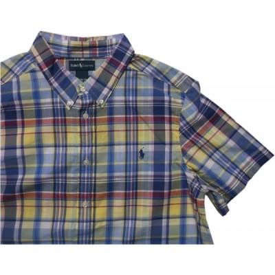 ポロ ラルフローレン ボーイズサイズ 半袖 ボタンダウンシャツ イエロー Polo Ralph Lauren boys 043