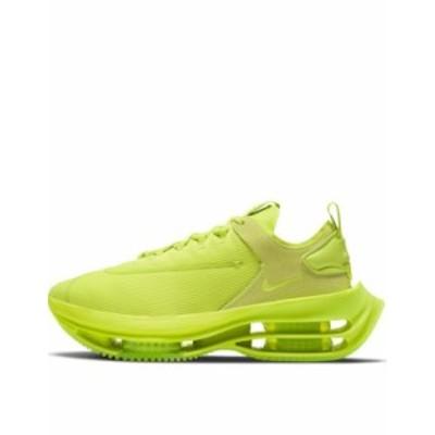 ナイキ レディース スニーカー シューズ Nike Zoom Double Stacked sneakers in cyber Green