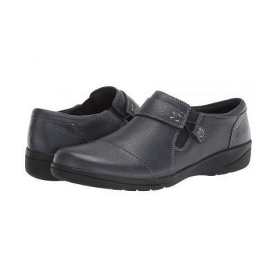 Clarks クラークス レディース 女性用 シューズ 靴 ローファー ボートシューズ Cheyn Onyx - Navy Tumbled Leather