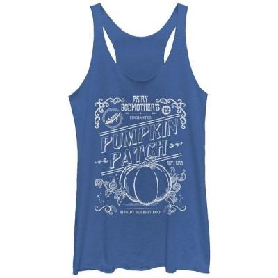 フィフスサン カットソー トップス レディース Disney Women's Cinderella Halloween Pumpkin Patch Tri-Blend Tank Top Royal Heat