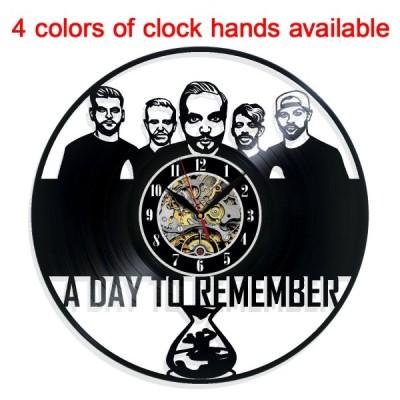 掛け時計 A Day to Remember Vinyl Wall Clock Record Gift Decor Sign Feast Day Art Birthday