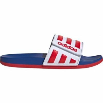 アディダス adidas メンズ サンダル シューズ・靴 Adilette Comfort Slides White/Scarlet/Royal
