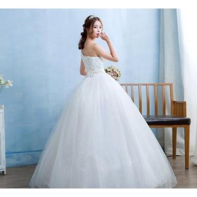 シングルショルダー 編上げ 手作り 結婚式 花嫁 パーティードレス  プリンセスライン 素敵 ウエディングドレス ブ  ライダル ワンピース 冠婚 ロング 綺麗 女性