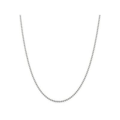 新品  Chain Necklace White Sterling Silver Ball (Beaded) 16 in 2.35 mm  並行輸入品