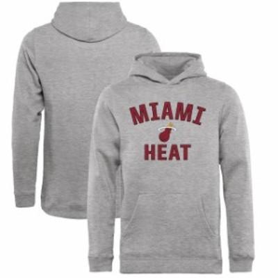 Fanatics Branded ファナティクス ブランド スポーツ用品  Fanatics Branded Miami Heat Youth Heathered Gray Victory Arch Pullover Ho