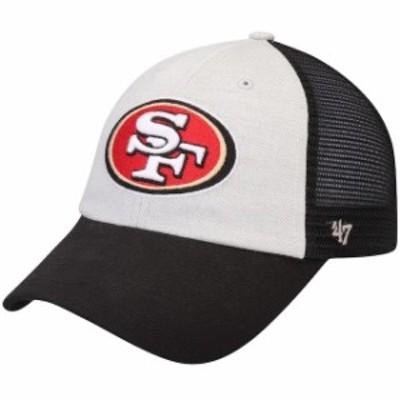 47 フォーティーセブン スポーツ用品  47 San Francisco 49ers Gray/Black Belmont Adjustable Hat