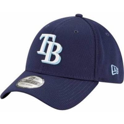ニューエラ メンズ 帽子 アクセサリー New Era Men's Tampa Bay Rays Navy 39Thirty Clubhouse Stretch Fit Hat