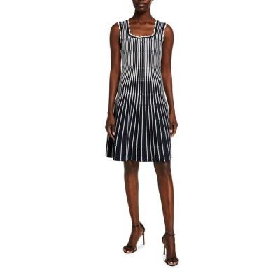 リラローズ レディース ワンピース トップス Variegated Striped Sleeveless Dress