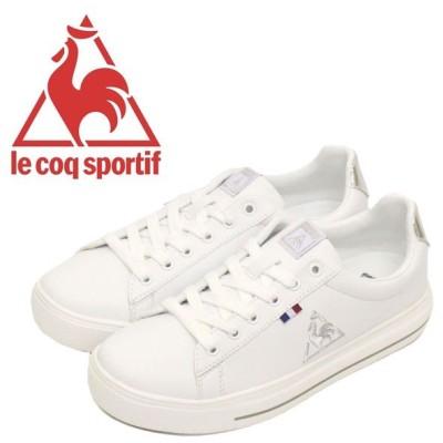 le coq sportif (ルコック スポルティフ) QL1NJC12WS テルナバウンドコート レディース スニーカー ホワイト/シルバー LE001