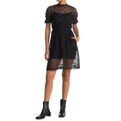 バーバリー レディース ワンピース トップス Mayne Lace Dress BLACK