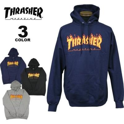 (公式)スラッシャー パーカー THRASHER FLAME HOODIE SWEAT PARKA プルオーバー パーカ スエット インポート メンズ レディース 裏起毛スウェット 全3色 S-XL