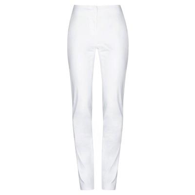 CALVIN KLEIN COLLECTION パンツ ホワイト 38 コットン 95% / ポリウレタン 5% パンツ