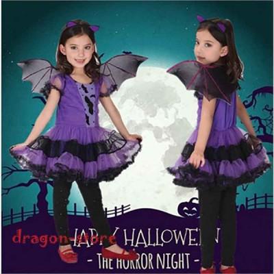 ハロウィン仮装子供コスチューム女の子コスプレ舞台衣装演劇演出小悪魔可愛いヴァンパイアハロウィンパーティーパーティー衣装