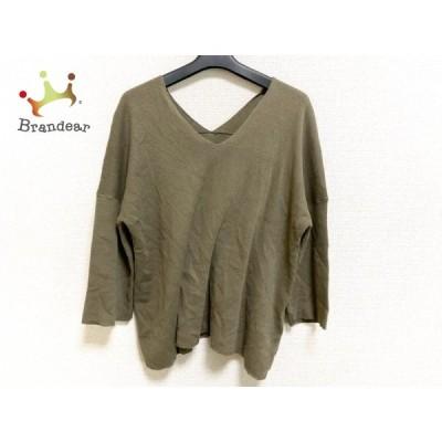 ドレステリア DRESSTERIOR 七分袖セーター サイズ38 M レディース 美品 - カーキ  値下げ 20210428