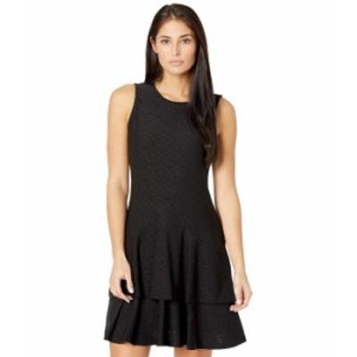 マイケルコース レディース ワンピース トップス Petite Flora Jacquard Sleeveless Dress Black