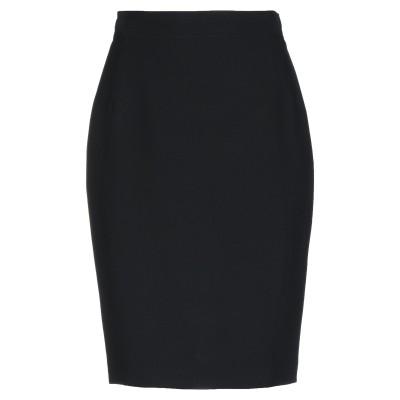 GAI MATTIOLO ひざ丈スカート ブラック 42 アセテート 60% / キュプラ 40% ひざ丈スカート