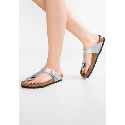 ビルケンシュトック サンダル レディース シューズ GIZEH - T-bar sandals - silver